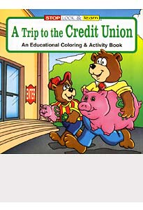 Trip to The Credit Union Coloring Books