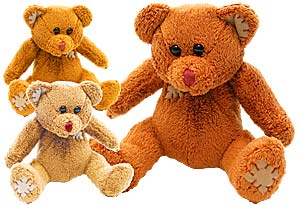 Suede Patchwork Bears Plush Toys