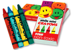 Smile Mini Crayon 4-Packs