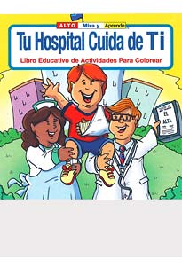 Spanish - Hospital Cares About You Coloring Books
