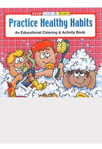 Practice Healthy Habits Coloring Books