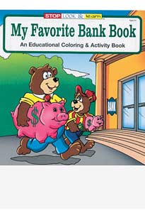 My Favorite Bank Coloring Books