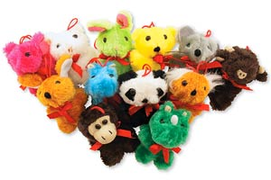 Colorful Plush Animals Toys