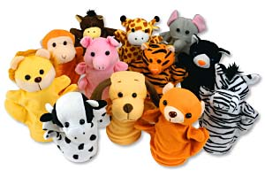 Animal Hand Puppets Plush Toys